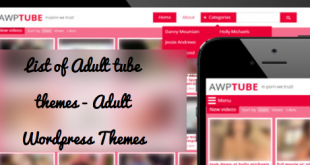 List of Adult tube themes - Adult Wordpress Themes