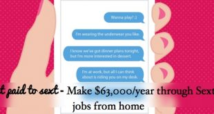 get paid to sext from home