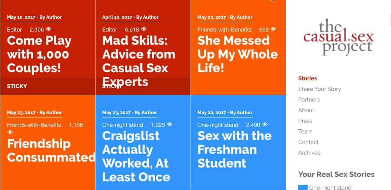 the causal sex project