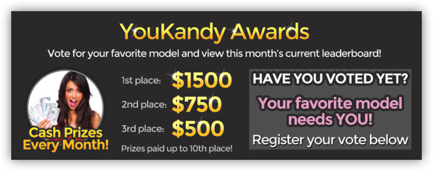 youkandy model of the month